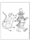 Malvorlage  Kobold und Maus