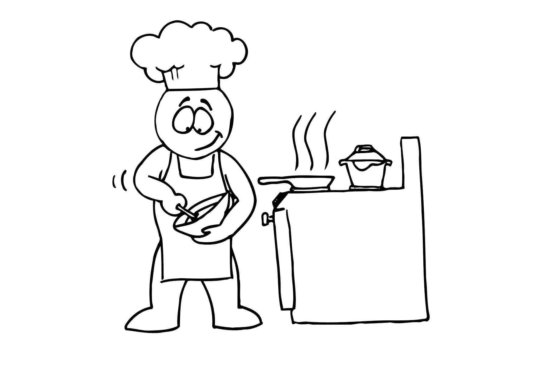 Malvorlage kochen - Kostenlose Ausmalbilder Zum Ausdrucken.