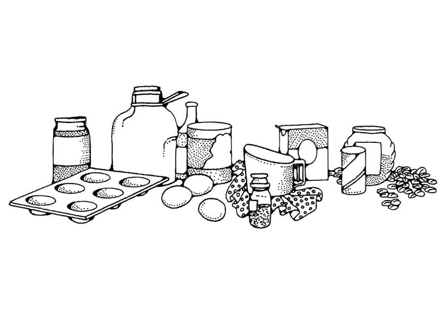 Bread Baking Coloring Pages