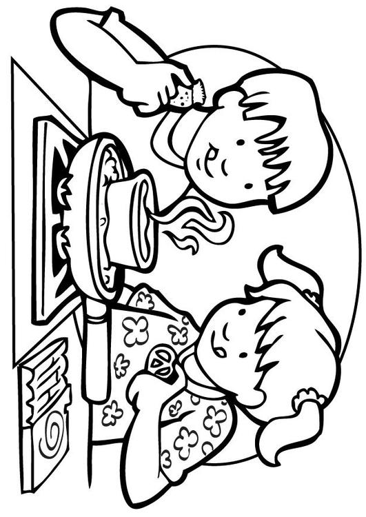 Chef Cooking Coloring Pages
