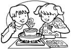 Malvorlage  kochen