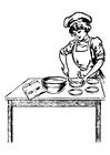 Malvorlage  Köchen
