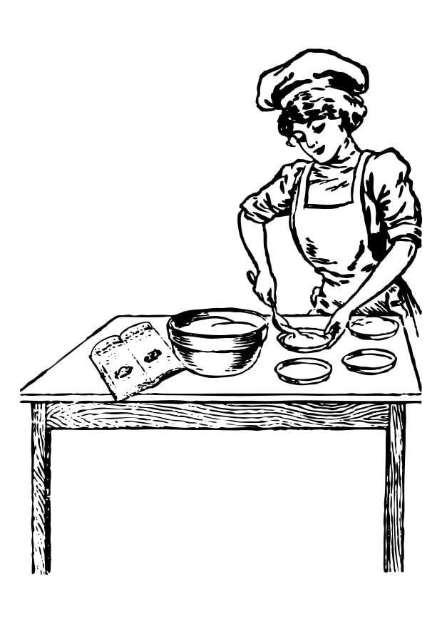 Kleurplaat Koken En Bakken Malvorlage K 246 Chin Ausmalbild 25571