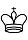Malvorlage  König