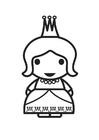Malvorlage  Königin