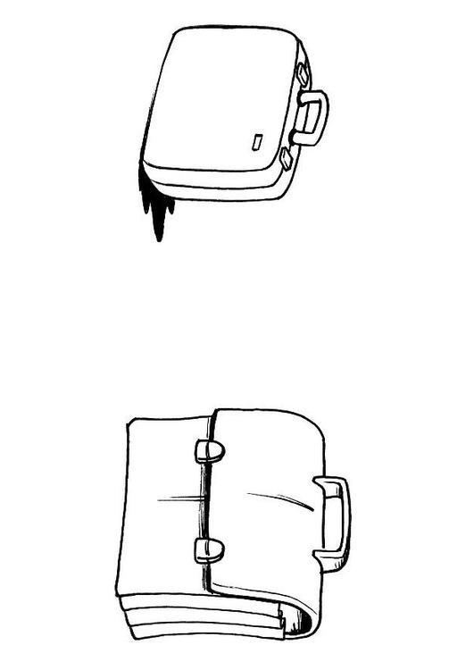 Malvorlage Koffer Und Brieftasche Ausmalbild 8191