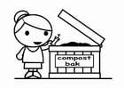 Malvorlage  Kompostieren