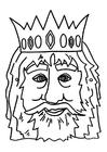 Malvorlage  Königsmaske