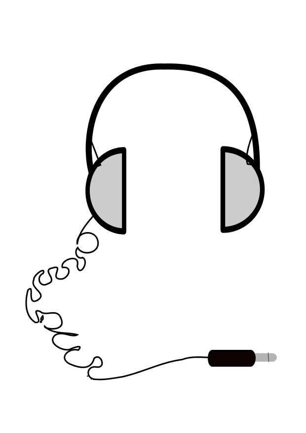 Malvorlage Kopfhörer   Ausmalbild 10465.