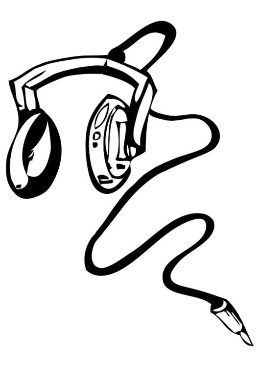 Malvorlage Kopfhörer   Ausmalbild 28326.
