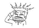 Malvorlage  Kopfschmerzen
