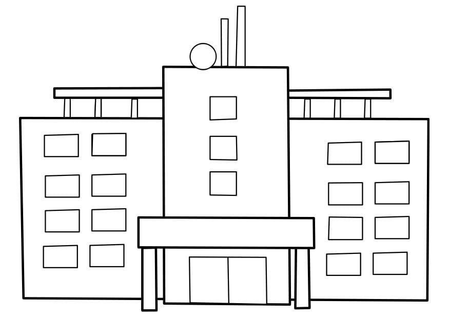 Malvorlage Krankenhaus Ausmalbild 22477