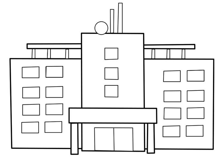 malvorlage krankenhaus  kostenlose ausmalbilder zum