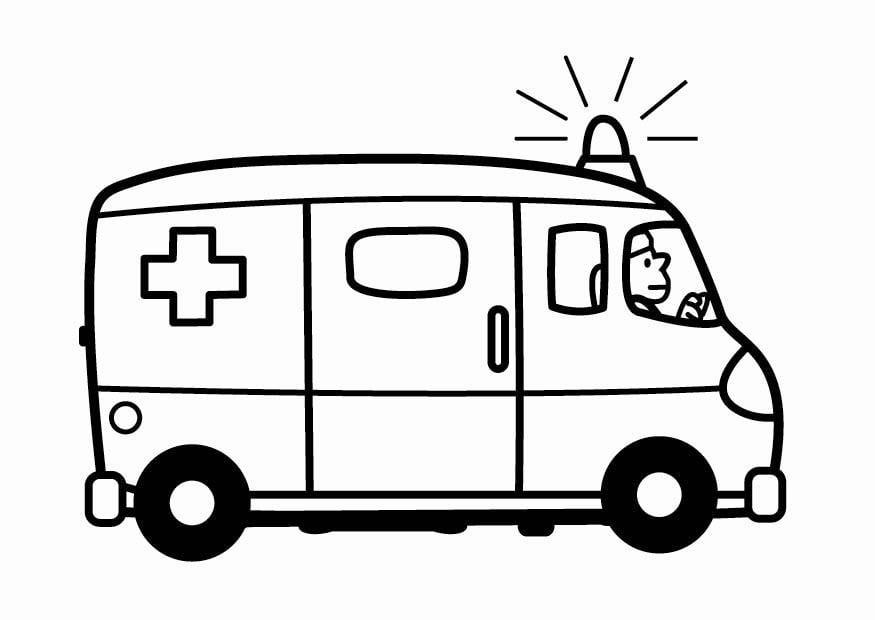 malvorlage krankenwagen  kostenlose ausmalbilder zum