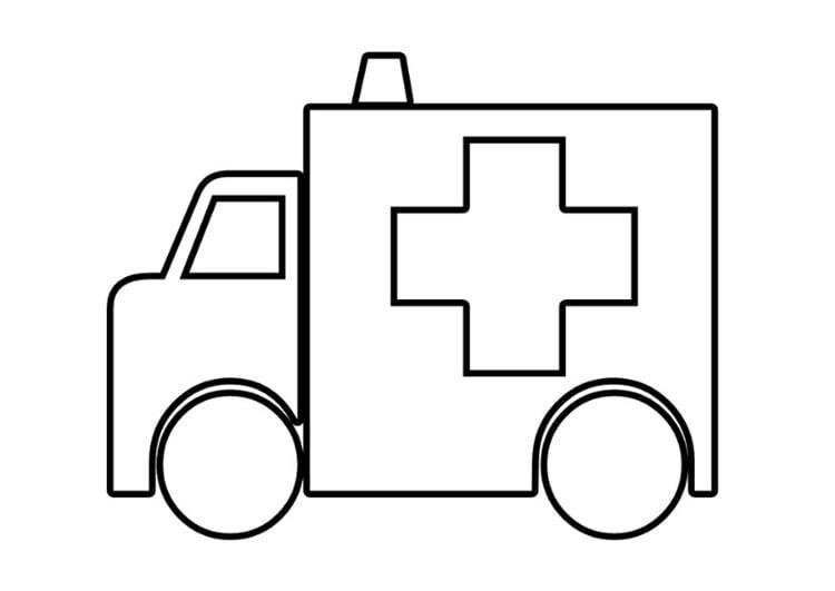 Malvorlage Krankenwagen | Ausmalbild 22537.