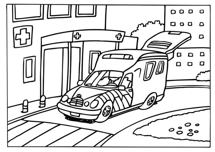 Malvorlage Krankenwagen Ausmalbild 6572