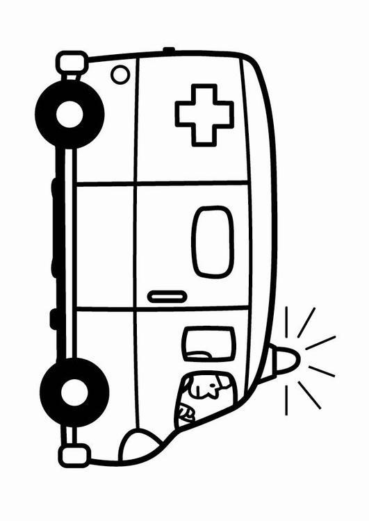 Ziek En Gezond Kleurplaat Malvorlage Krankenwagen Ausmalbild 24119