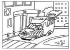 Malvorlage  Krankenwagen