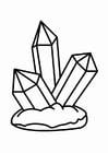 Malvorlage  Kristall