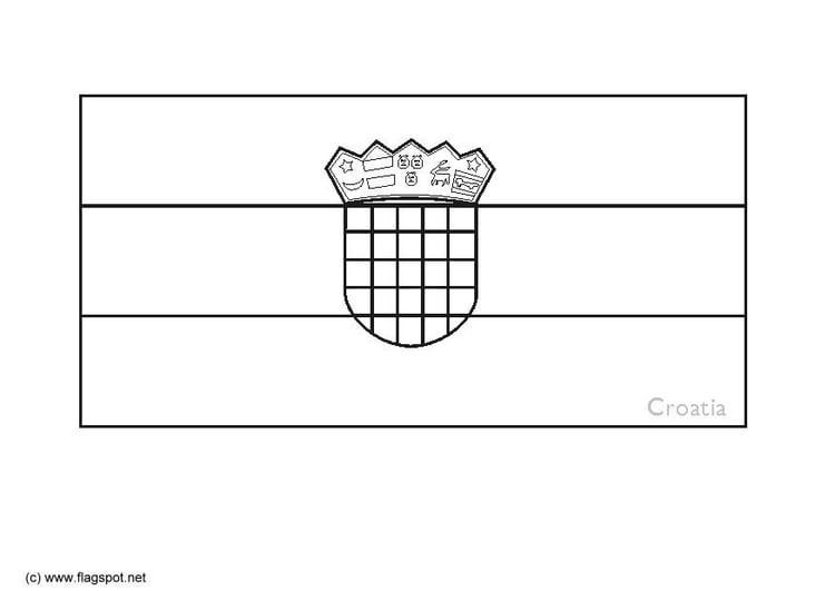 Malvorlage Kroatien | Ausmalbild 6374.