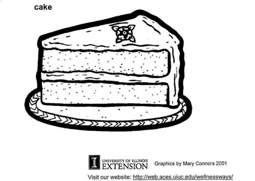 malvorlage kuchen  ausmalbild 5789