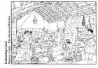 Malvorlage  Küche im Mittelalter