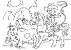 Malvorlage  Kühe hüten