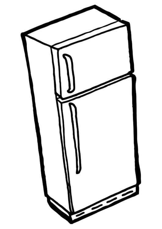 malvorlage k hlschrank mit gefrierschrank ausmalbild 22524. Black Bedroom Furniture Sets. Home Design Ideas