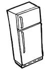 Malvorlage  Kühlschrank mit Gefrierschrank