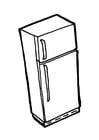 Malvorlage  Kühlschrank mit Tiefkühlschrank