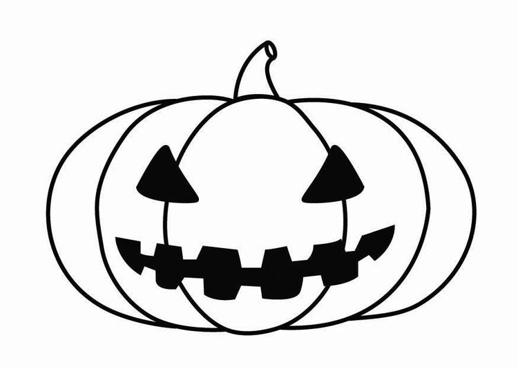 Malvorlage Kürbis Halloween | Ausmalbild 26871.