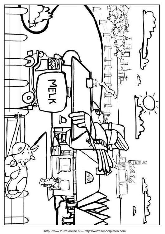 Malvorlage Kuh 5 | Ausmalbild 3644.