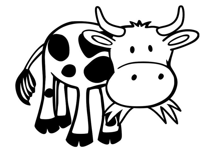 malvorlage kuh  kostenlose ausmalbilder zum ausdrucken