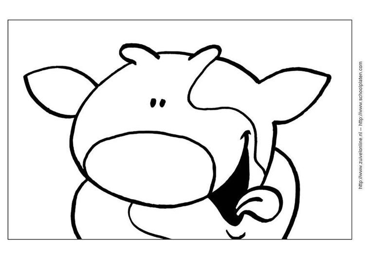 Malvorlage Kuh | Ausmalbild 3640.