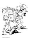 Malvorlage  Kunstmaler