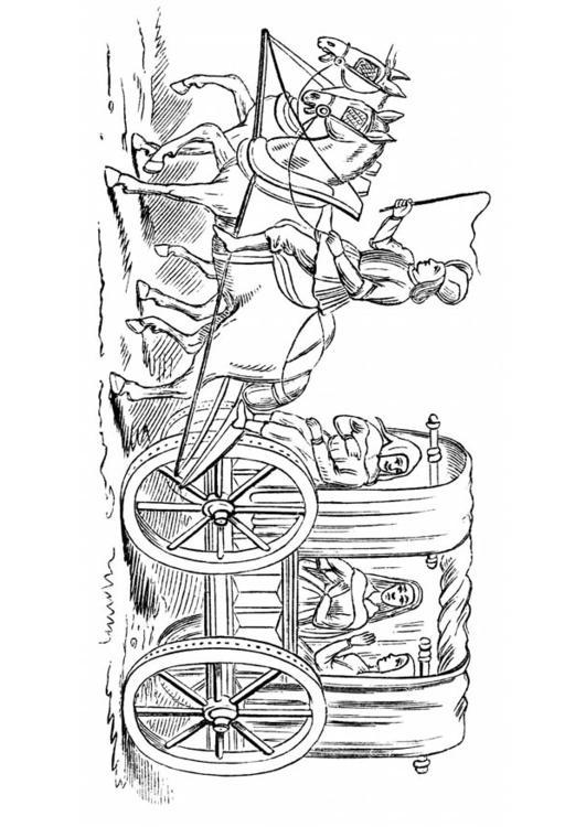 Malvorlage Kutsche 15 Jahrhundert Ausmalbild 18784