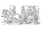Malvorlage  Kutsche 15. Jahrhundert