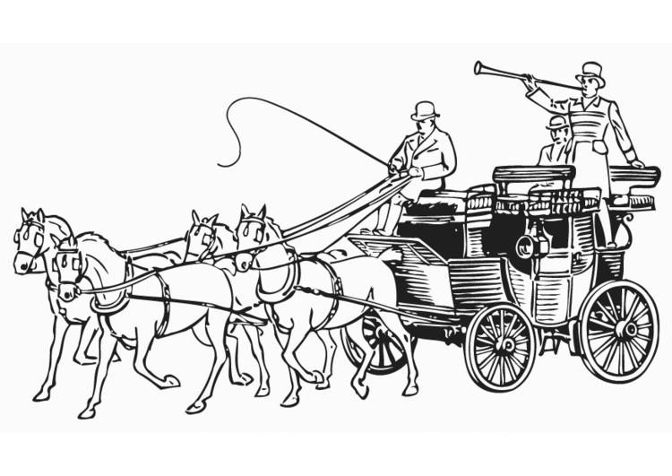 Malvorlage Kutsche | Ausmalbild 18770.