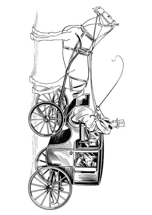 Malvorlage Kutsche Mit Pferd Und Reiter Ausmalbild 18830