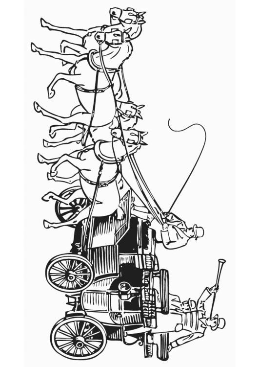 Kleurplaat Paard En Koets Malvorlage Kutsche Ausmalbild 18770