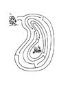 Malvorlage  Labyrinth Frosch