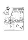 Malvorlage  Labyrinth Hund