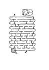 Malvorlage  Labyrinth Katze