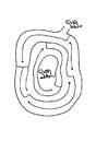 Malvorlage  Labyrinth Schildkröte