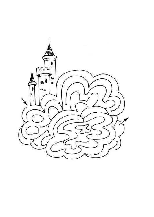 malvorlage labyrinth schloss  kostenlose ausmalbilder zum
