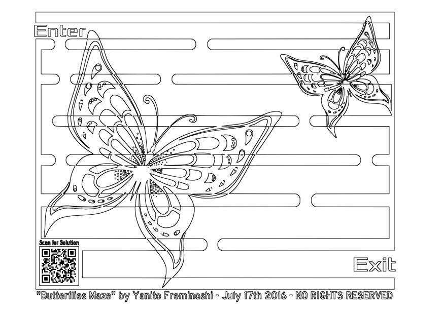 Ziemlich Eine Malvorlage Eines Schmetterlings Ideen - Beispiel ...