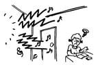 Malvorlage  Lärm - lernen