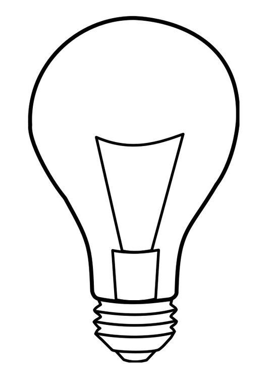 Malvorlage lampe ausmalbild 22859 - Lamparas bombilla gigante ...