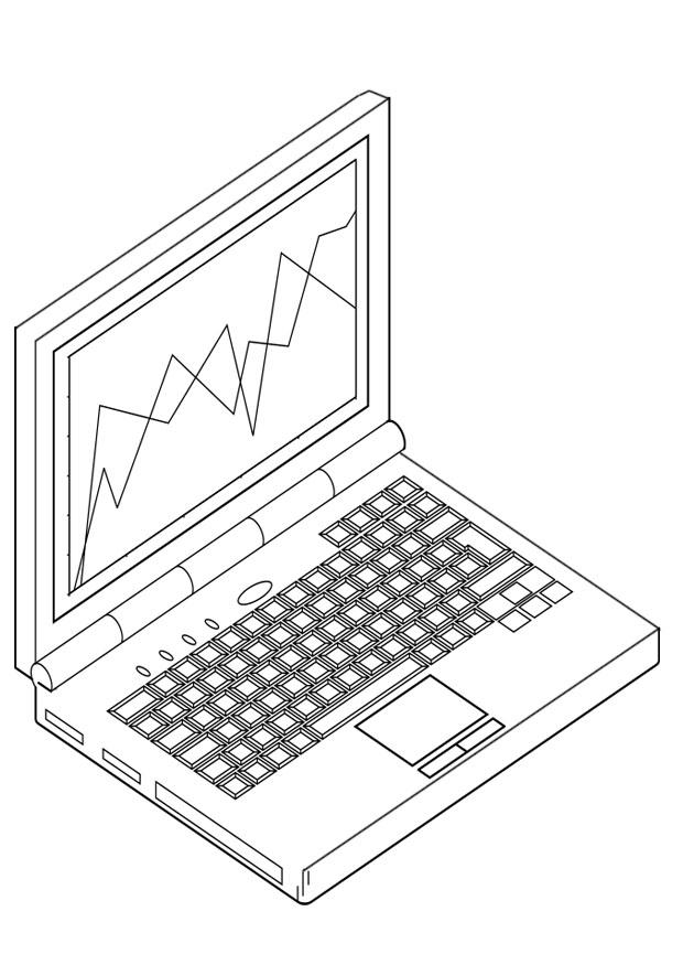 Malvorlage Laptop Ausmalbild 19116