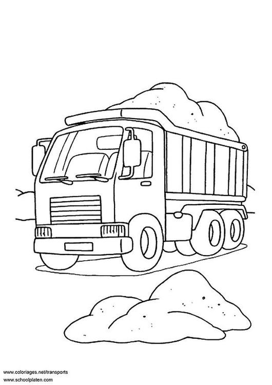 Malvorlage Lastwagen Ausmalbild 3099